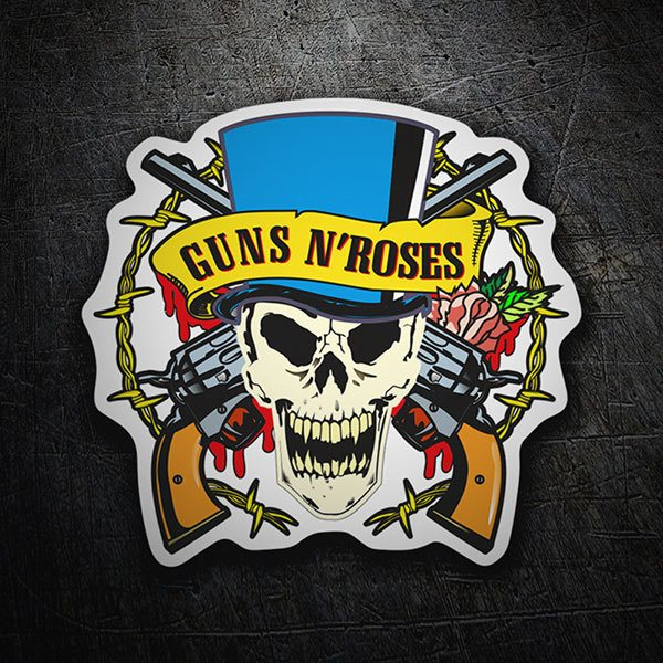 Pegatinas: Guns N' Roses Calavera Color 0