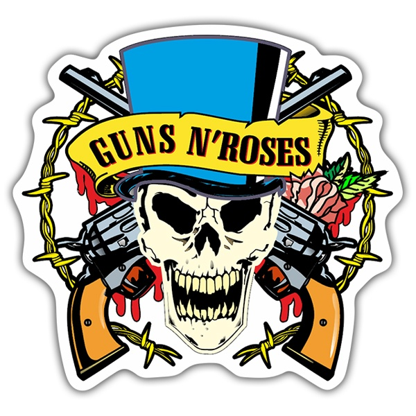Pegatinas: Guns N' Roses Calavera Color
