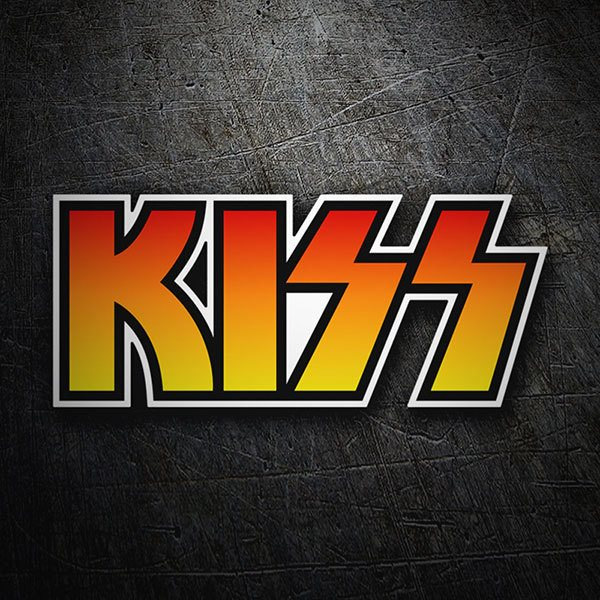 Pegatinas: Kiss Logo Color