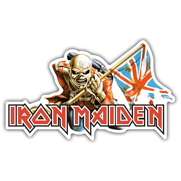 Pegatinas: Iron Maiden - The Trooper