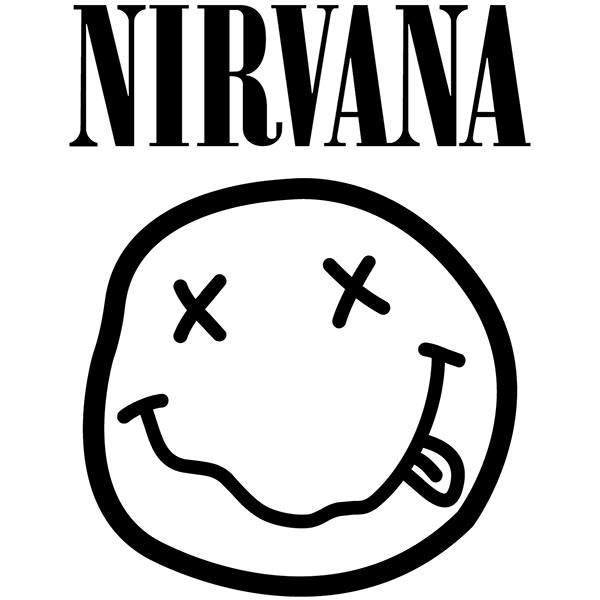 Pegatinas: Nirvana con Smiley Borracho