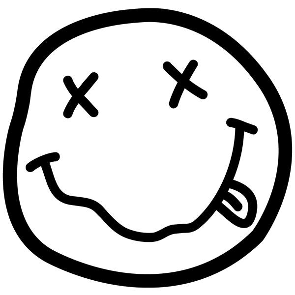 Pegatinas: Smiley Borracho de Nirvana