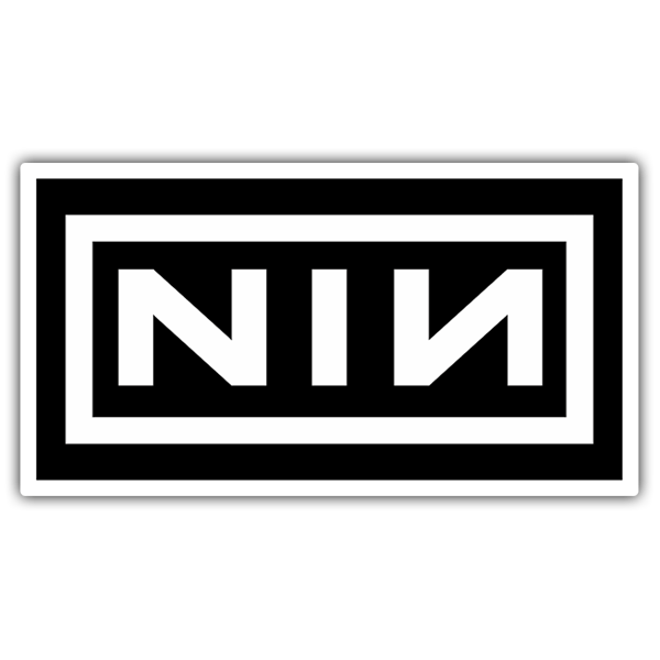 Pegatinas: Nine Inch Nails Logo