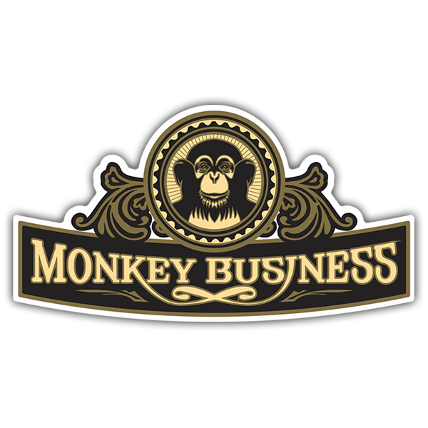 Pegatinas: The Black Eyed Peas - Monkey Business 0