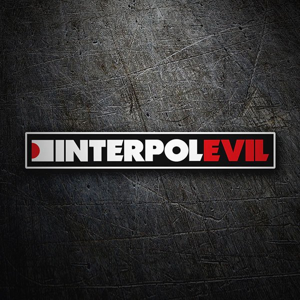 Pegatinas: Interpol Evil