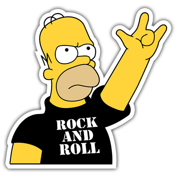 Pegatinas: Rock and Roll Homer