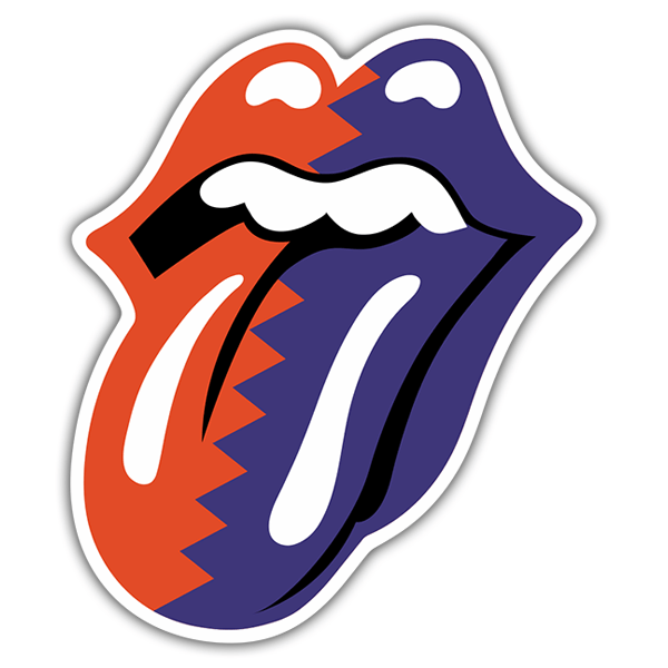 Pegatinas: The Rolling Stones Lengua bicolor