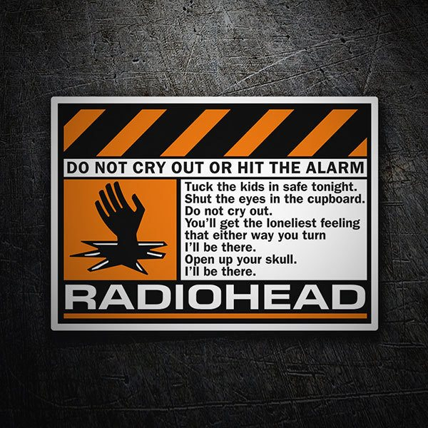 Pegatinas: Radiohead - Do Not Cry 1