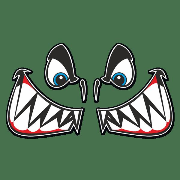Pegatina kit boca y ojos tibur n - Vinilos de motos para pared ...