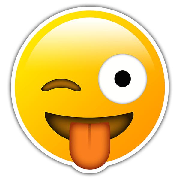 Pegatina cara con sonrisa gui o y lengua - Sin cara definition ...