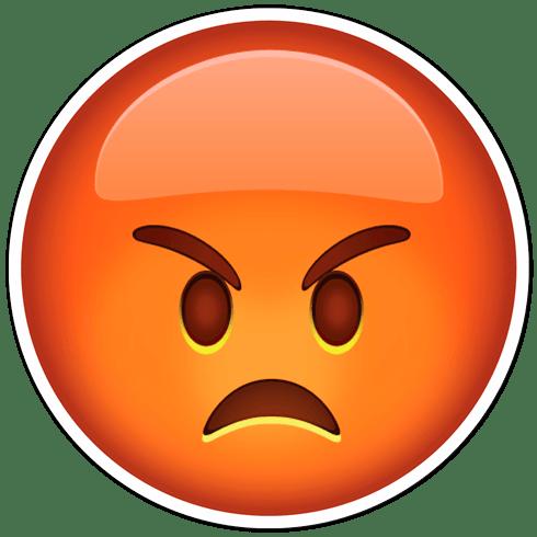 pegatina mala cara de enfado