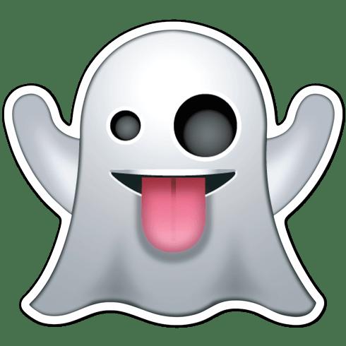 Pegatina emoji emoticono Fantasma