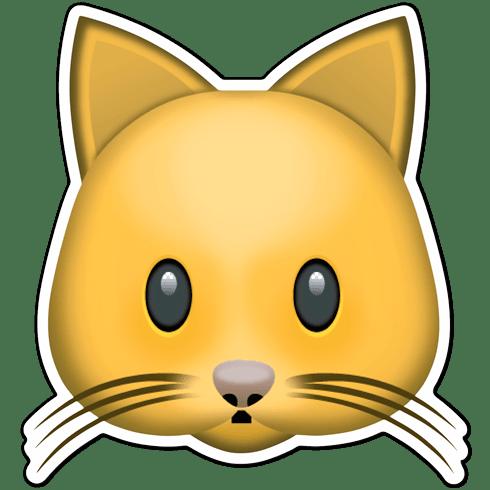 Pegatina emoji cara de gato