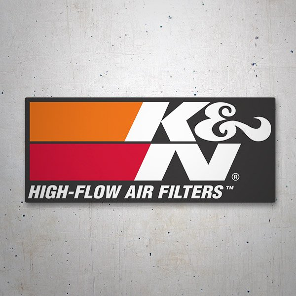Pegatinas: K&N High-Flow Air Filters 2