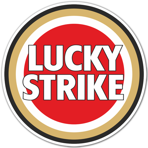Pegatinas: Lucky Strike Color