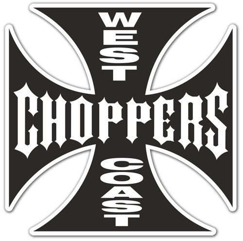 Pegatinas: West Choppers Coast 2