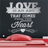 Vinilos Decorativos: Love is an Art 2
