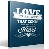 Vinilos Decorativos: Love is an Art 3