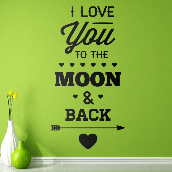 Vinilos Decorativos: I Love You to the Moon 0