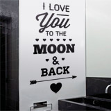 Vinilos Decorativos: I Love You to the Moon 2