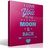 Vinilos Decorativos: I Love You to the Moon 3