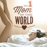 Vinilos Decorativos: No 1 Mom in the World 2