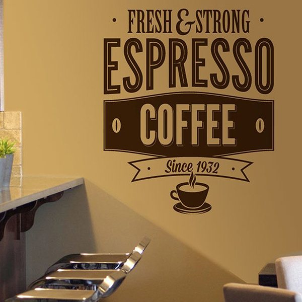 Vinilos Decorativos: Fresh & Strong Espresso Coffee