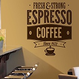 Vinilos Decorativos: Fresh & Strong Espresso Coffee 2