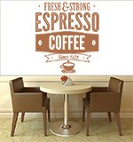 Vinilos Decorativos: Fresh & Strong Espresso Coffee 3