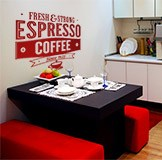 Vinilos Decorativos: Fresh & Strong Espresso Coffee 5