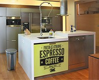Vinilos Decorativos: Fresh & Strong Espresso Coffee 6