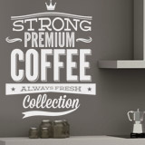 Vinilos Decorativos: Strong Premium Coffee 2