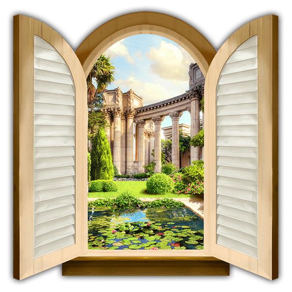 Ventana estanque y columnas corintias for Estanque decorativo