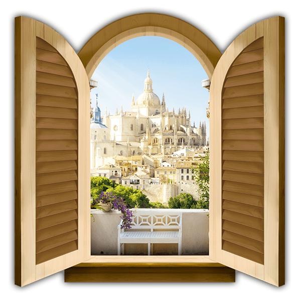 Ventana catedral segovia - Teleadhesivo vinilos decorativos espana ...