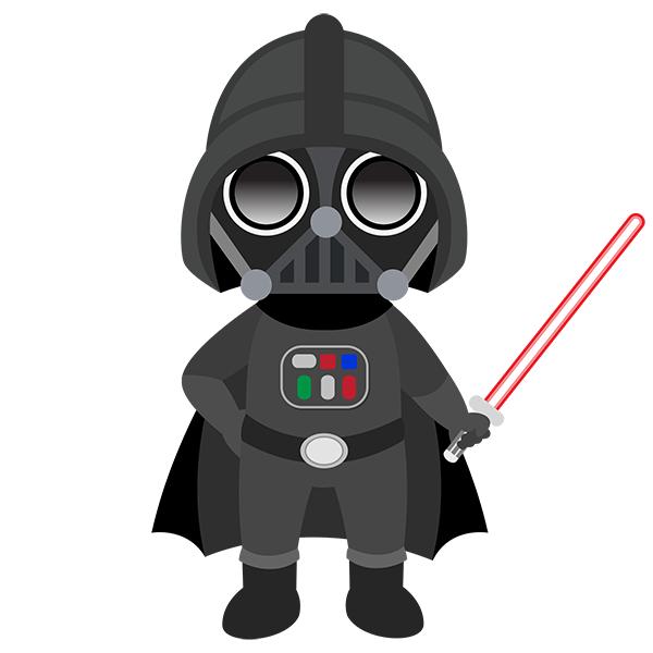 Compra Vinilos Star Wars De Darth Vader En Teleadhesivo