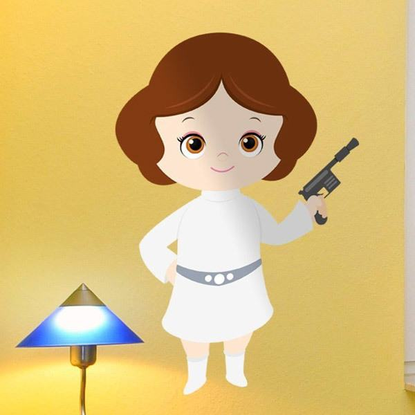 Han Solo May The Fourth Be With You: Vinilo Decorativo Infantil Princesa Leia