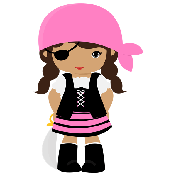 Bucanera rosa con parche - Piratas infantiles imagenes ...