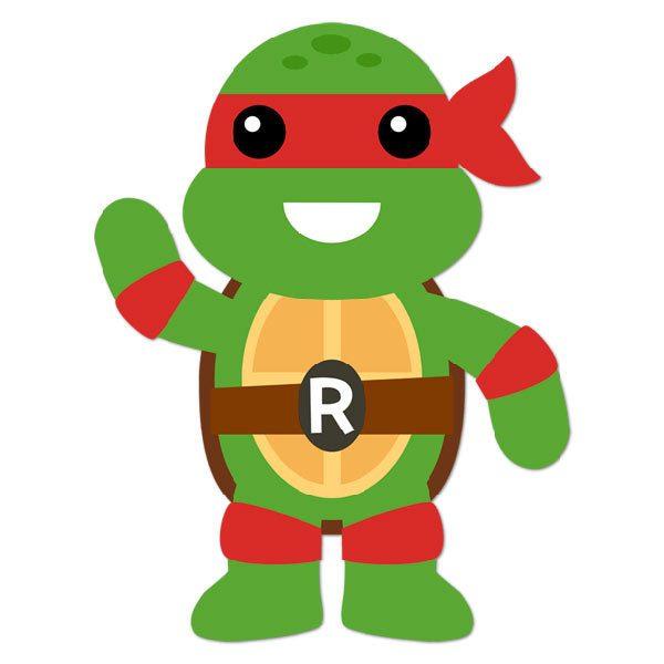 Vinilo Infantil Tortuga Ninja Raphael Teleadhesivocom