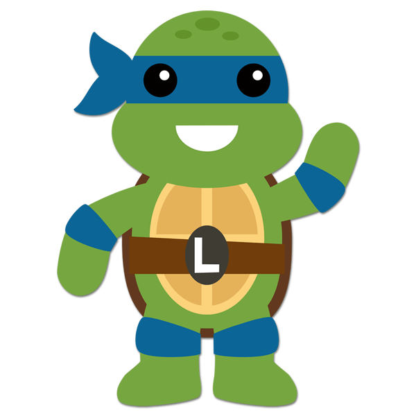 Vinilo infantil tortuga ninja leonardo - Leonardo tortues ninja ...