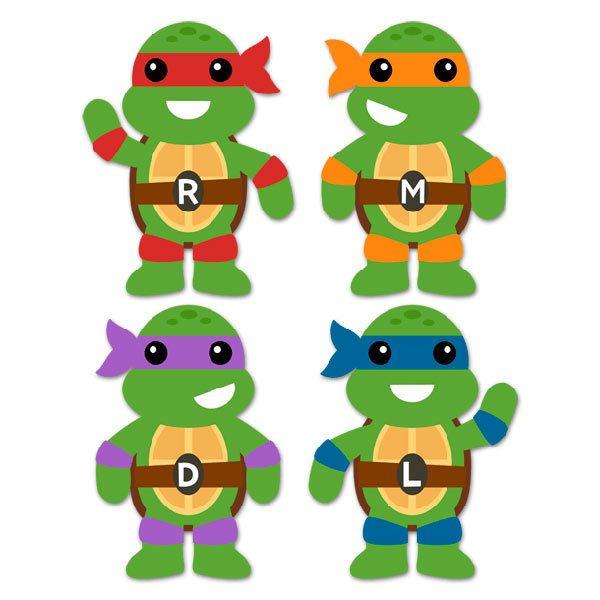 Vinilo Infantil Kit Tortugas Ninja Teleadhesivocom