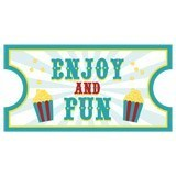 Vinilos Infantiles: Ticket Enjoy and Fun 6