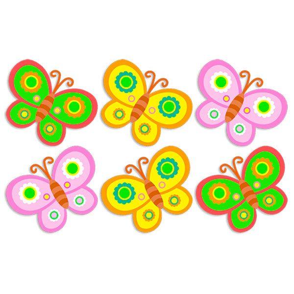 Kit 6 mariposas 2 for Stickers de pared infantiles
