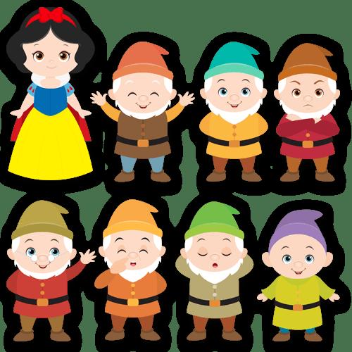 Vinilo infantil kit blancanieves y los siete enanitos - Casa de blancanieves y los 7 enanitos simba ...