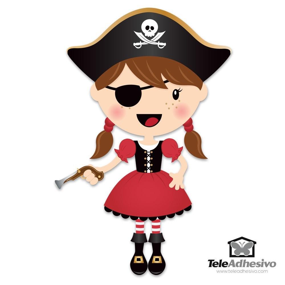 Vinilo Infantil La Pequeña Pirata Trabuco