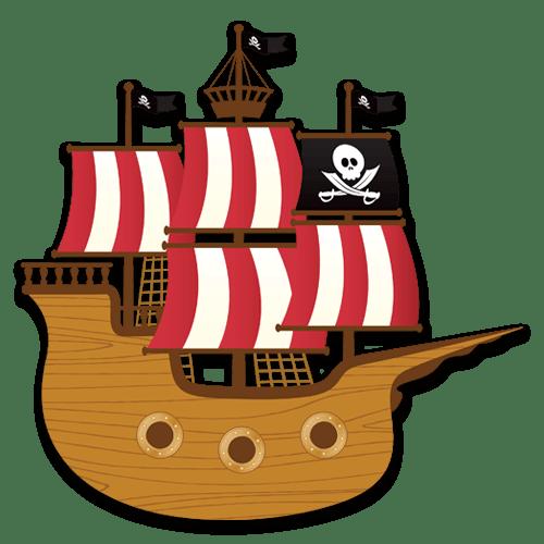 Vinilo infantil barco de los peque os piratas - Imagenes de barcos infantiles ...