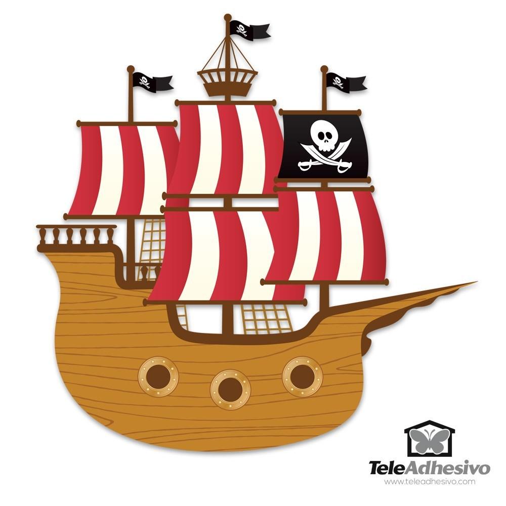 Vinilo infantil barco de los peque os piratas - Imagenes de piratas infantiles ...