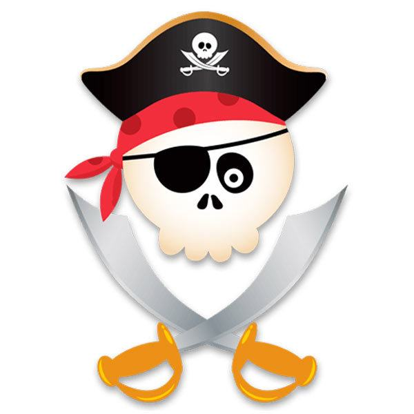Vinilo Infantil Calavera Pirata Infantil