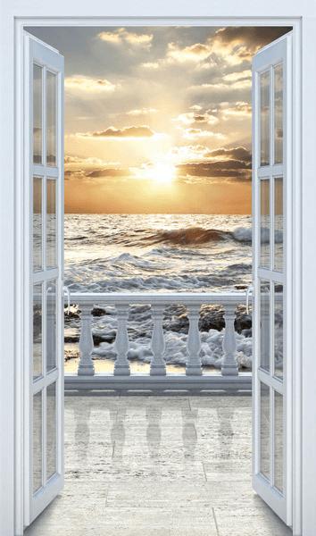Puerta al balc n en la playa for Puerta balcon