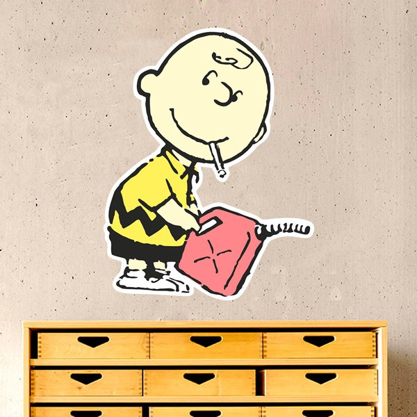 Vinilos Decorativos: Banksy, Charlie Brown Gasolina
