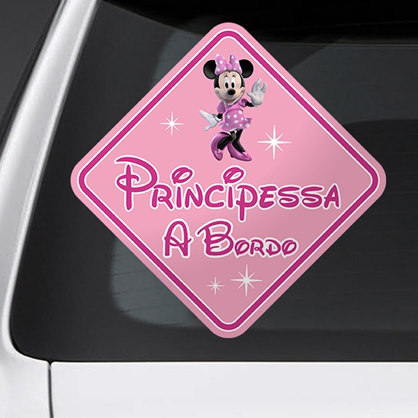 Pegatinas: Princesa a Bordo Disney - italiano 1